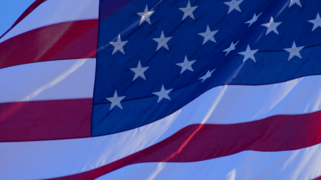 flagge der usa - amerikanische flagge stock-videos und b-roll-filmmaterial