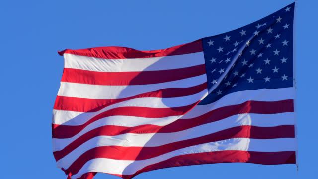 米国の旗 - 独立宣言点の映像素材/bロール