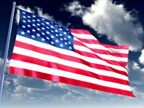 vidéos et rushes de drapeau des états-unis  - président des états unis