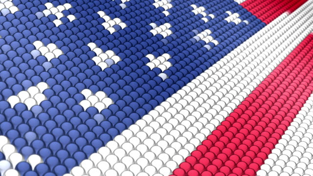 flag of usa - pixellated stock videos & royalty-free footage