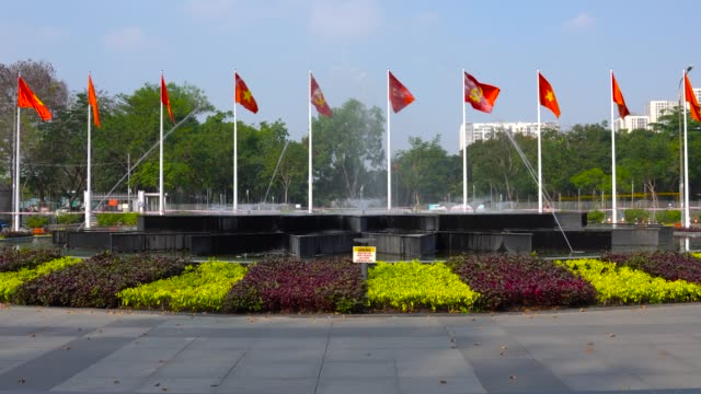 flag of vietnam and flag of the communist party of vietnam. - communist flag stock videos & royalty-free footage