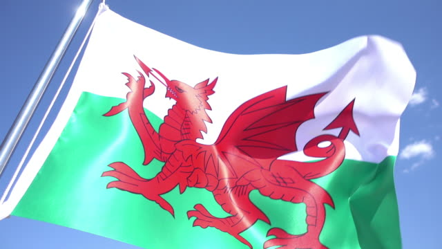 flag of wales - wales stock videos & royalty-free footage