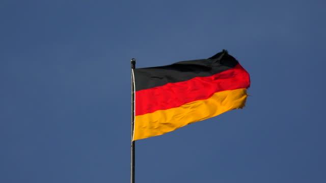 flag og germany - german flag stock videos & royalty-free footage