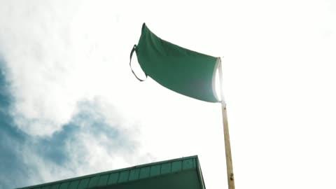 flag on miami beach - flag stock videos & royalty-free footage