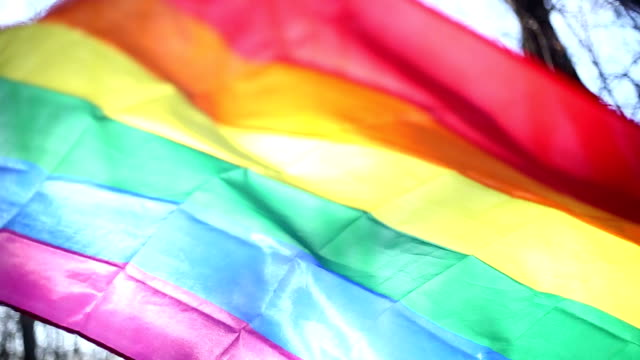 lgbt flag rainbow fleg - equality stock videos & royalty-free footage