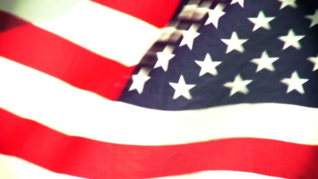 flag rippling in wind - nedtoning bildbanksvideor och videomaterial från bakom kulisserna