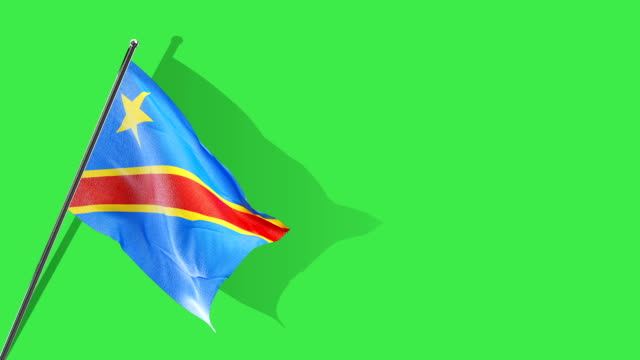 DRC flag rising