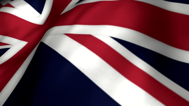 uk flag slow motion - looping - british flag stock videos & royalty-free footage