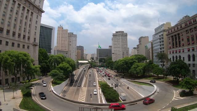 vídeos y material grabado en eventos de stock de plaza de la bandera ,sáo paulo, brasil - são paulo
