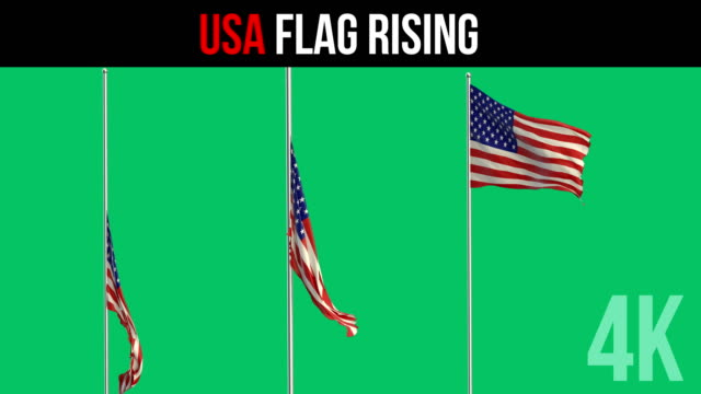 usa flagge - stange stock-videos und b-roll-filmmaterial
