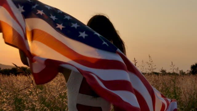 usa flag - stars and stripes stock videos & royalty-free footage