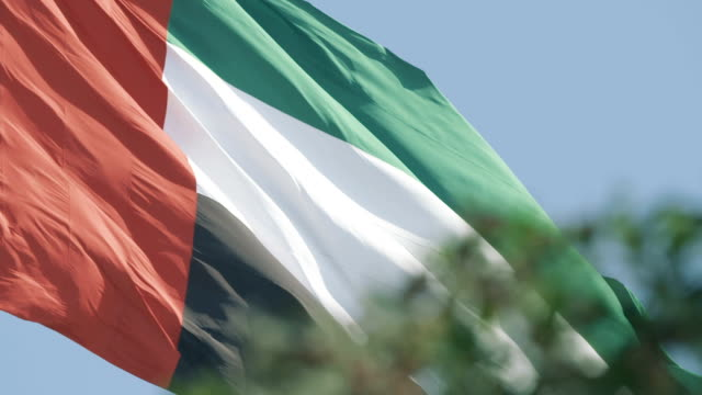 uae flag - flag stock videos & royalty-free footage