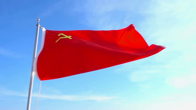 ussr flag - former ussr flag stock videos & royalty-free footage