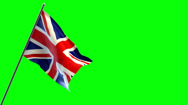 uk flag - bandiera del regno unito video stock e b–roll