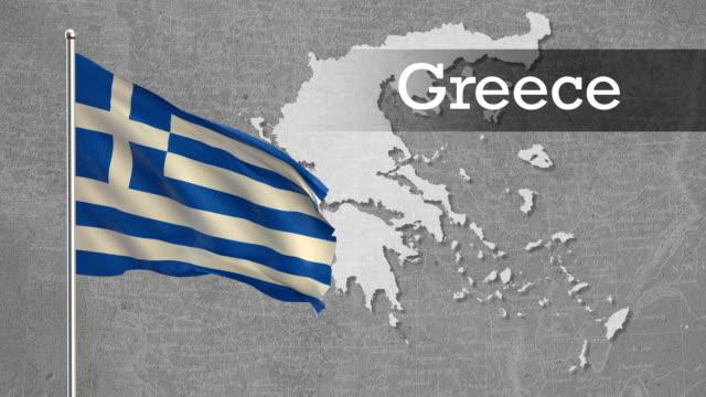flagge - griechische flagge stock-videos und b-roll-filmmaterial