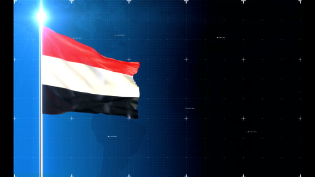 3d flag with map + green screen - yemen stock videos and b-roll footage