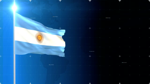 3d flag with map + green screen - argentina stock videos and b-roll footage