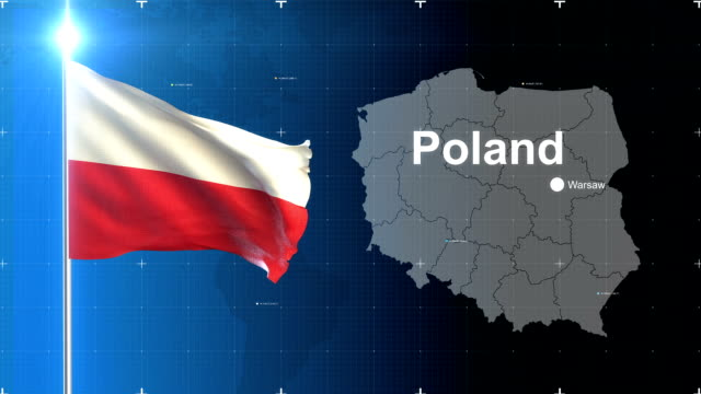 3d flag with map + green screen - poland stock videos and b-roll footage