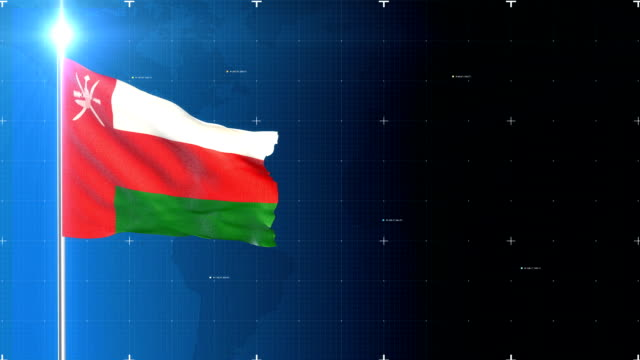 3d flag with map + green screen - oman flag stock videos and b-roll footage