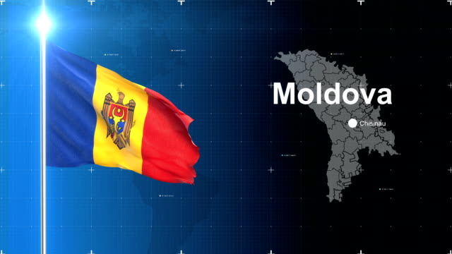 3d flag with map + green screen - moldova stock videos and b-roll footage