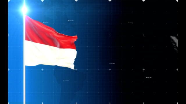 3d flag with map + historical background - indonesia stock videos & royalty-free footage