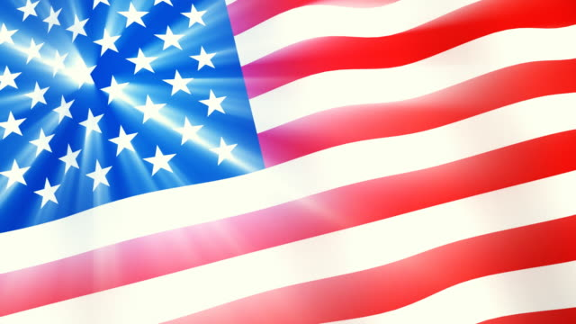 US flag with shining stars