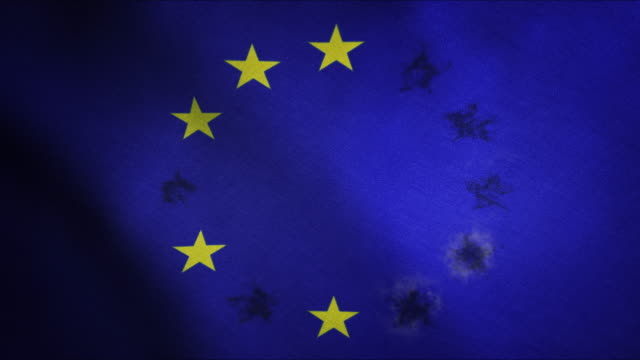 EU Flag with the stars dissapearing series