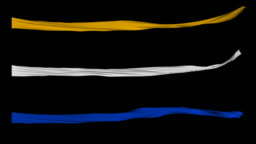 FlagFX-Thin Gold,White and Blue Ribbons