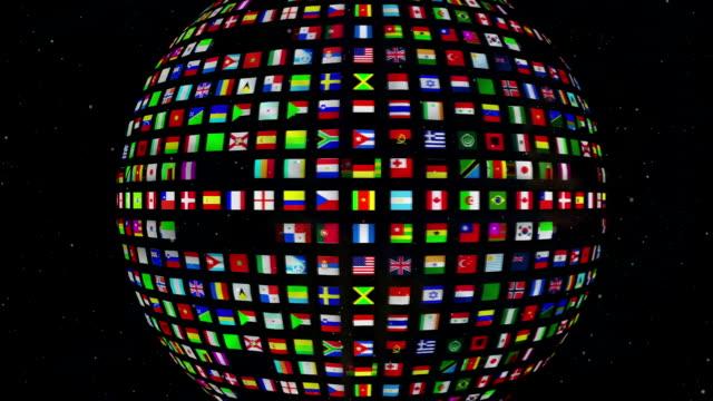 vídeos y material grabado en eventos de stock de conjunto de banderas de tierra - naciones unidas