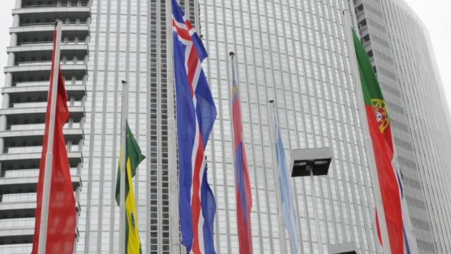 vídeos y material grabado en eventos de stock de flags fluttering-portugal, brasil, argentina, icleand - bandera argentina