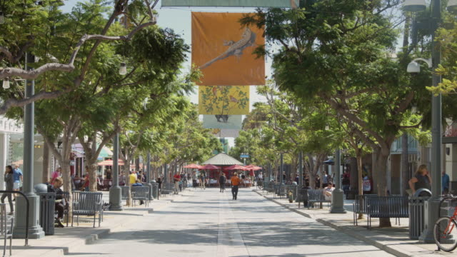 Flags Flying Over Santa Monica Third Street Promenade