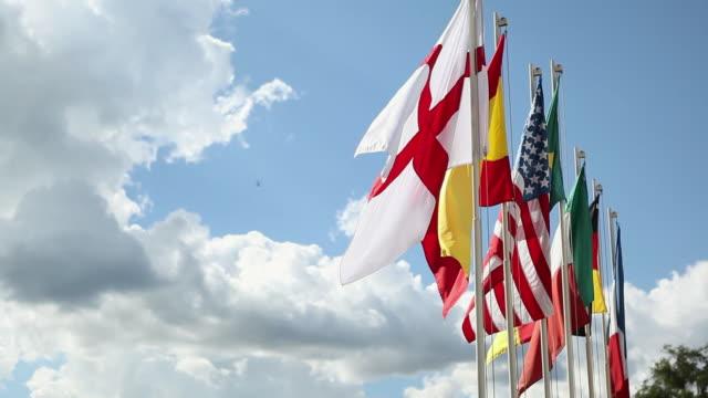 ms flags / foz do iguacu, parana, brazil - bandiera inglese video stock e b–roll