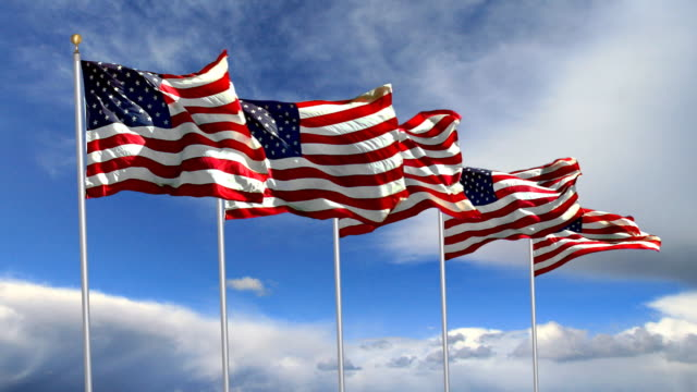 US Flags. HQ 1080P.