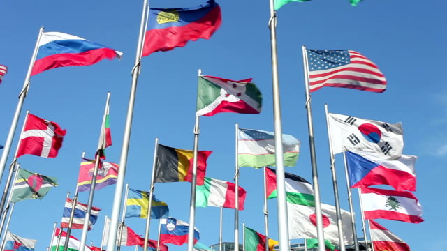 flags in wind - national flag stock videos & royalty-free footage