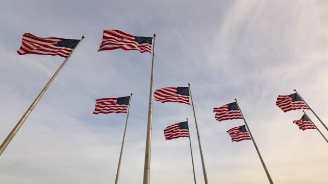 Flags, Liberty State Park, New Jersey, New York, USA