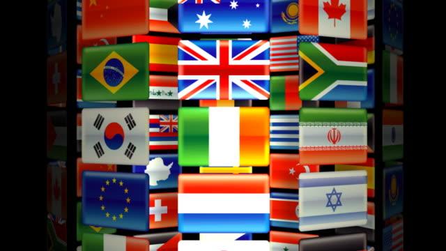旗回転 - ギリシャ国旗点の映像素材/bロール