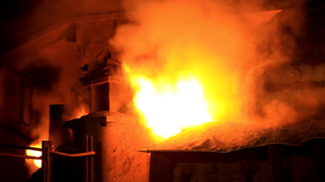 flame burning out the blast furnace - blast furnace stock videos & royalty-free footage