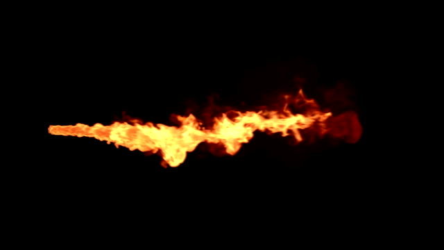 flame thrower with alpha matte - fire natural phenomenon stock videos and b-roll footage
