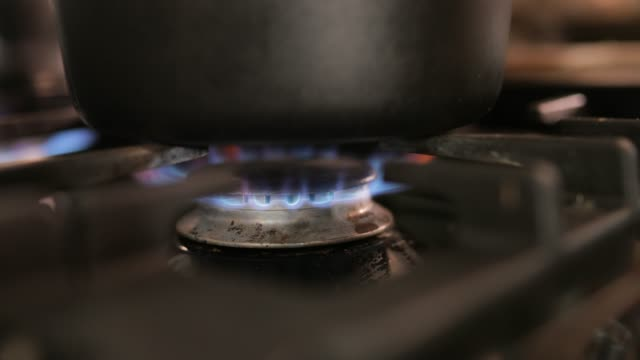 flame under pan - appliance stock videos and b-roll footage