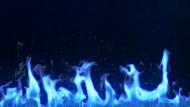 炎(ループ - 炎点の映像素材/bロール