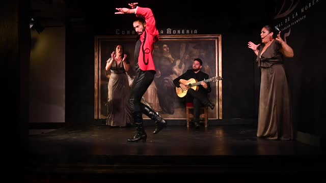 flamenco dancer eduardo guerrero performs 'guerrero' on stage during the reopening of the iconic flamenco venue 'corral de la moreria' on may 19,... - performance stock videos & royalty-free footage