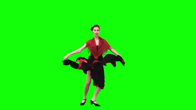 flamenco dancer in slow motion - flamenco dancing stock videos and b-roll footage