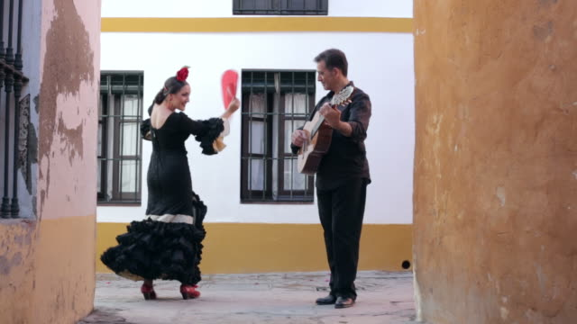 flamenco dancer. spain. - traditional ceremony stock videos & royalty-free footage