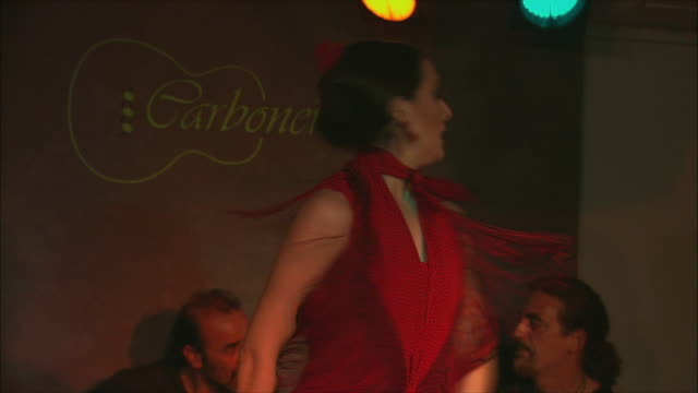 ms zo ws flamenco group performing on stage, madrid, spain - flamenco dancing stock videos and b-roll footage