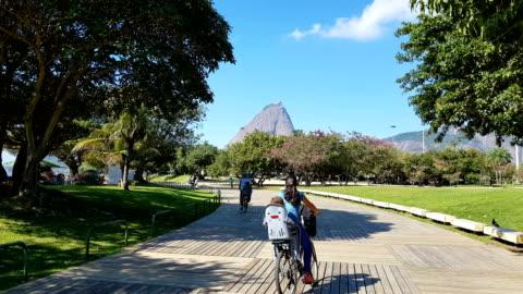 flamengo park in rio de janeiro - pedestrian zone stock videos & royalty-free footage