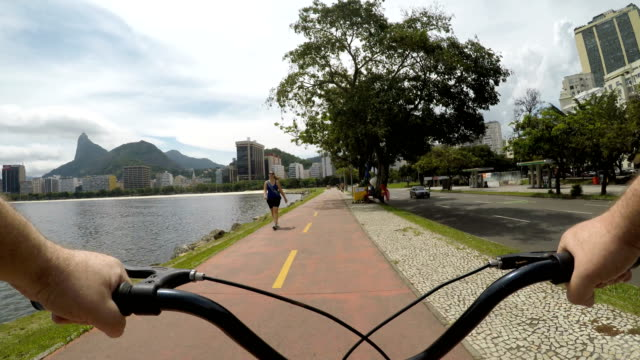 vidéos et rushes de flamengo park à rio de janeiro - caméra portable