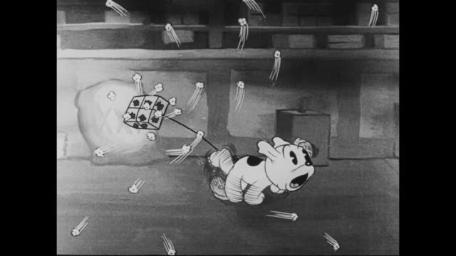 1937 flames chase puppy with popcorn tied to his tail - dog tail stock videos and b-roll footage
