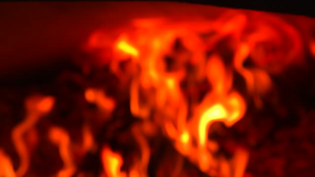 flames in pizza oven - pizza oven stock videos and b-roll footage