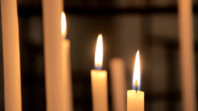 flames of candles - judaism stock videos & royalty-free footage