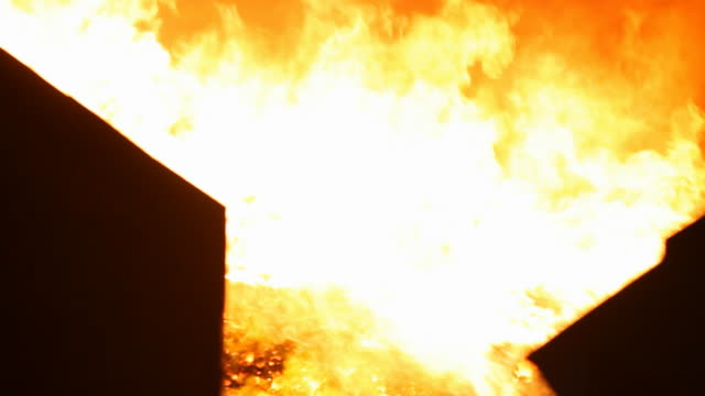 flames rising from pure metallurgical coke - coal stock-videos und b-roll-filmmaterial